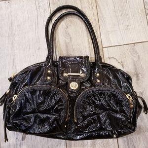 Botkier black gold patent leather handbag